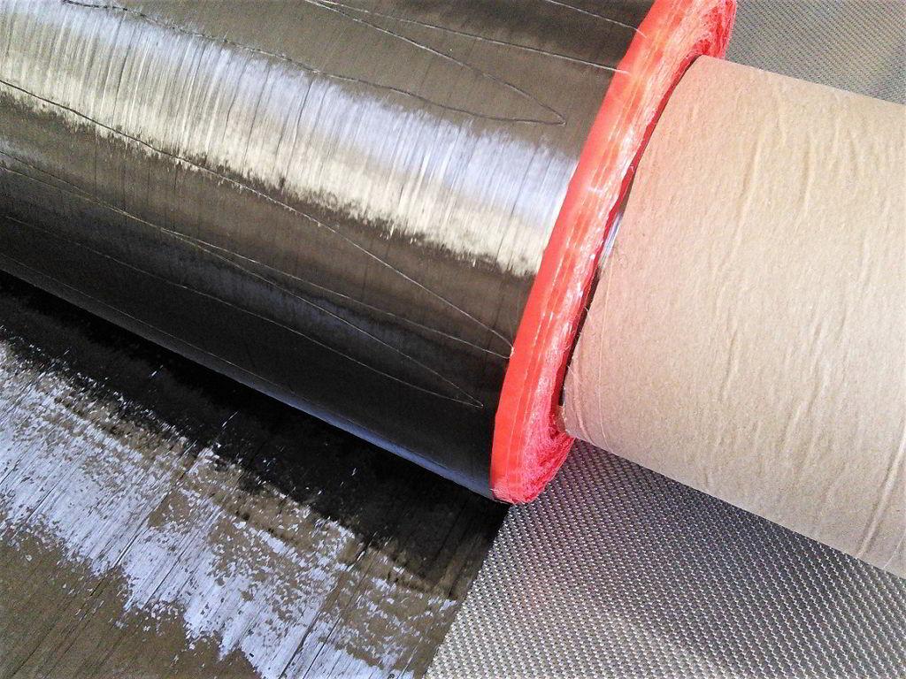 Bande de fibre de carbone<br> Largeur 20 cm<br> TC200U20
