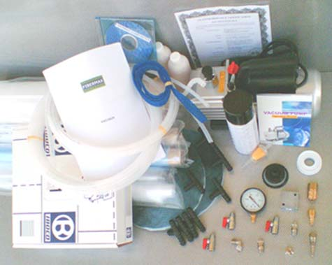 Infusion kit<br>with large pump